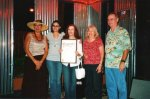 "CityTexas Music Month Proclamation - Texas Music Month Chair Patrice Villastrigo, 10th Birthday Party Chair Nikki Young, 1st Vice Pres. & TMC co-founder Carol Sowa, Secretary Maria Larson & President Paul ""Red"" Dvorak."